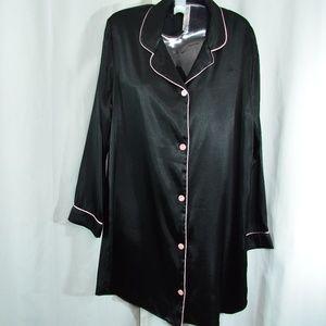Gilligan & O'Malley Black Polyester Sleep Shirt